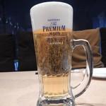 炭火焼肉 きたむら - 生ビール中ジョッキ