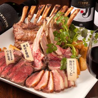 猪や鹿や鴨の「ジビエ」をステーキで味わえます♪