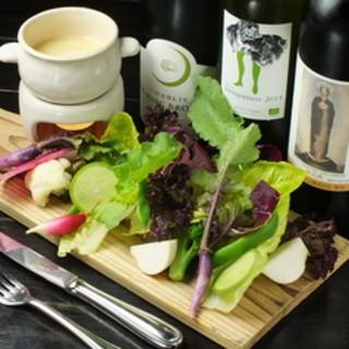 立川と栃木の農園から野菜を仕入れ。安心、安全な野菜です
