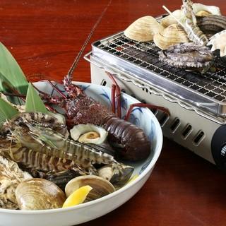 新鮮な食材をお客様の好みに合わせてその場で調理!!