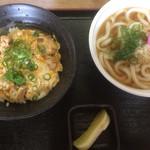 久米 - 親子丼セット730円