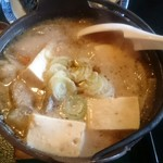 お食事処 きん太 - 実は味噌味 お肉も豚なので、ほぼ豚汁です
