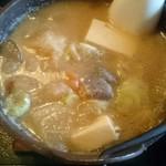 お食事処 きん太 - 具は豚肉・豆腐・里芋・大根・ ニンジン・ゴボウ・こんにゃく・ネギ