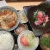 刺身屋新太郎 - 料理写真:S) お刺身五点盛&煮カツ玉子とじ 930円