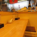 中華そばつけ麺 永福 - カウンター5席ほどのこじんまりとしたお店です。