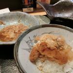 刺身屋新太郎 - 残ったカツ煮でカツ丼風に。