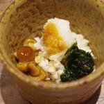 日本橋 蕎ノ字 - 蕎麦の実、なめこ、生海苔