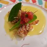レストラン クレール - 「車エビ レモンバターソース」(1400円)