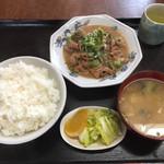 越後屋 - もつ煮定食 2017.2