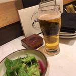 62433370 - 生ビールとサラダ