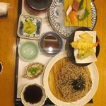 がんこ - お造り天ぷら定食+そば大盛り