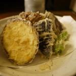 昌平 - 野菜天ぷらそば 1188円。