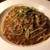 chug-a-lug - 料理写真:肉主 パスタ従のボロネーゼ、甘さのあるソースに 牛肉エキスが充満してます!イタリアンではないが 旨い スパゲッティの逸品