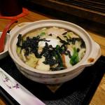 いけす - からだが温まるスペシャルなべ焼きうどん(¥760)。野菜たっぷりでバランスのとれた美味しさ!(≧▽≦)