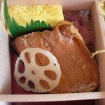 ゆしま扇 - 鮭の西京焼とたまご。