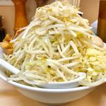 自家製ラーメン大者 - つけ麵も野菜マシマシなので恐ろしい量です【料理】
