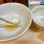 自家製ラーメン大者 - 豚骨魚介つけ麵完食(汚くてすいません)【その他】