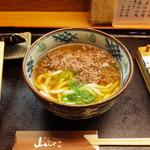 そばうどん 山びこ - 牛うどん870円