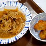 すき家 - 中盛・豚皿&唐揚げ2個