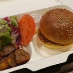 ブーランジェリー アサノヤ / グリパン - ランチAセット:クラシック・バーガー サラダ、ポテト付き1