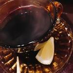 カフェアンドバー とまり木 ひなた - スパイスホットワイン  シナモンの香りが~(*´▽`*)