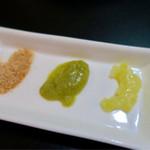 リオブール - レモン、柑橘、カレーの3種類の塩(ラーメンの味変アイテム)