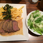 Mezonkaizakafe - 牛ももステーキプレート