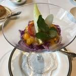 レストラン・フォレスト - ズワイガニと紫キャベツのサラダ