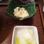 寺カフェ - ポテサラとお新香