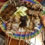 ひゃくしょう亭 - 料理写真:串盛り