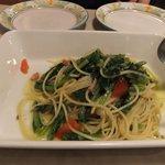 6246200 - ベーコンと菜の花のペペロンチーノ