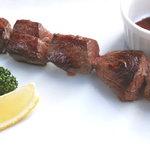 クイーンシーバ エチオピアレストラン - ダチョウのケバブ