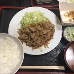 島田屋 - スタミナ炒め(ホルモン)定食800円
