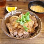 ネマルカフェ - 牛ステーキ丼(950円)
