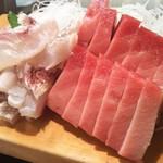 かわなみ鮨 - 大トロ、湯引き鯛の刺身