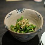 うなぎ ひら井 - 山葵菜のお浸し