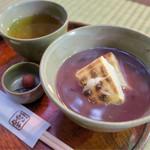 赤福 - 冬季限定の「赤福ぜんざい」(520円)