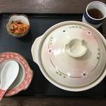 tenukiudommarushin - 鍋焼きうどん到着時