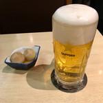 62472421 - サッポロ生ビールに里芋