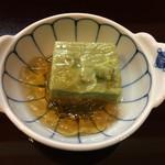花翆 - 先付け 抹茶豆腐