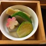花翆 - 季節野菜の炊き合わせ