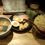 三田製麺所 - つけ麺(730円)+三田盛(クーポン)