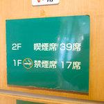 ドトールコーヒーショップ - 2階は喫煙席。