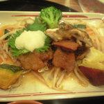 ガスト - 季節野菜のおろしビーフ舞茸添え