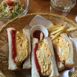 ロングビーチカフェ - 厚焼きたまごサンド