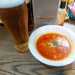 Kobe Garage Cafe - スープ、ノンアルコールビール