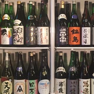 日本酒40種類以上ご用意、飲み放題も!