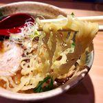焼きあご塩らー麺 たかはし - 麺 2017.1.4