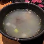吟味屋 - テールスープ 1200円
