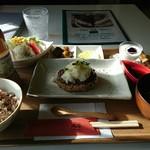 cafe 帆呂 horo - ランチAひじき入りポークハンバーグおろしポン酢